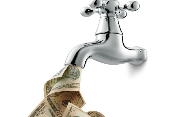 A faucet of money