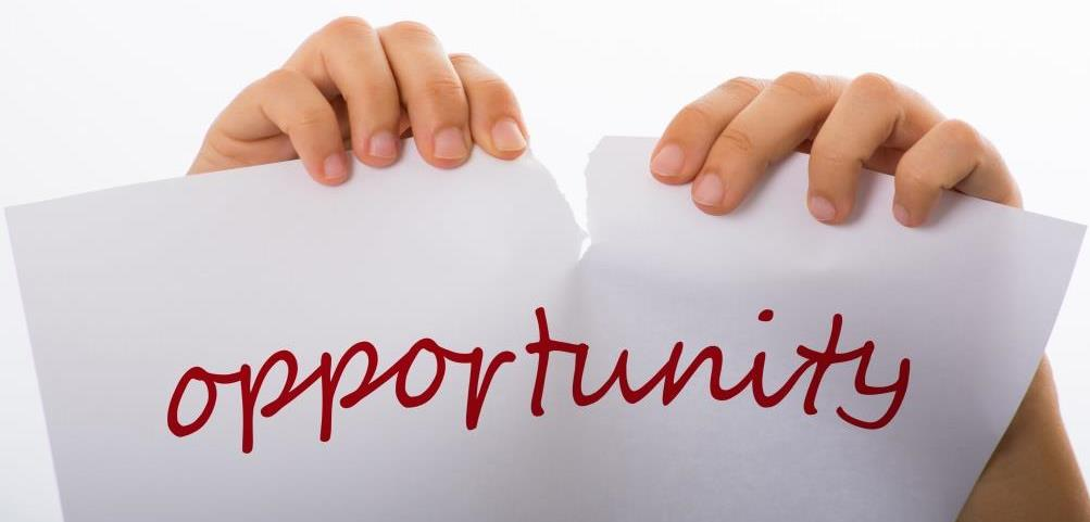 Missing opportunities