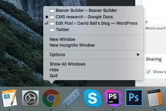 OSX Taskbar expanded