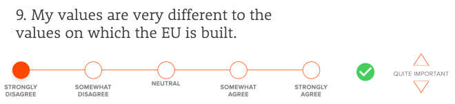 My values are very different to the values on which the EU is built.