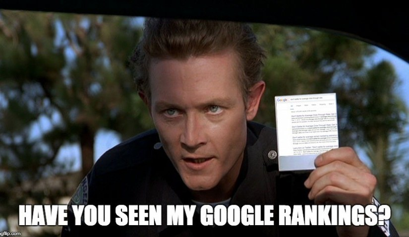 Terminator 2 showing google rankings