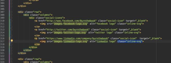 HTML markup