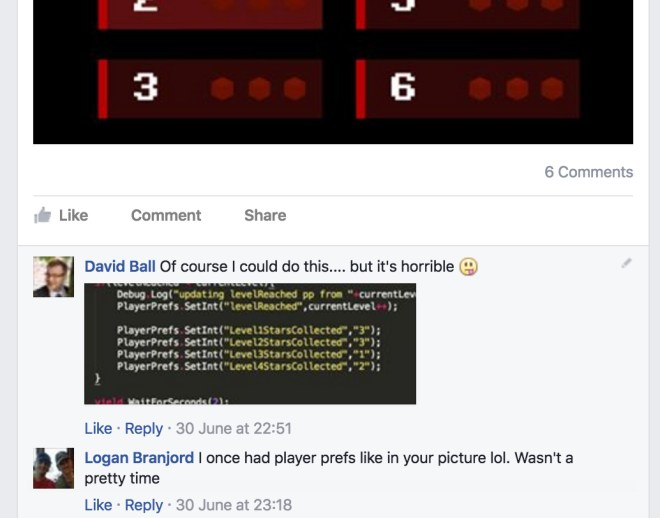 asking about using playerprefs on facebook