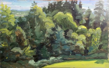 oil on panel, 12 x 20