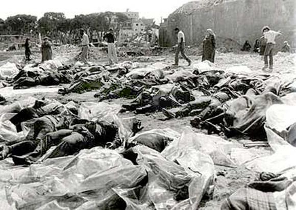 "The Deir Yassin massacre. Today  Israel's ""Holocaust"" memorial Yad Vahsem, overlooks the site."
