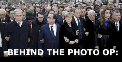 Netanyahu at march in Paris -- the Damn Jewish hypocrite
