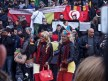 Women dressed in Belgium's national colours