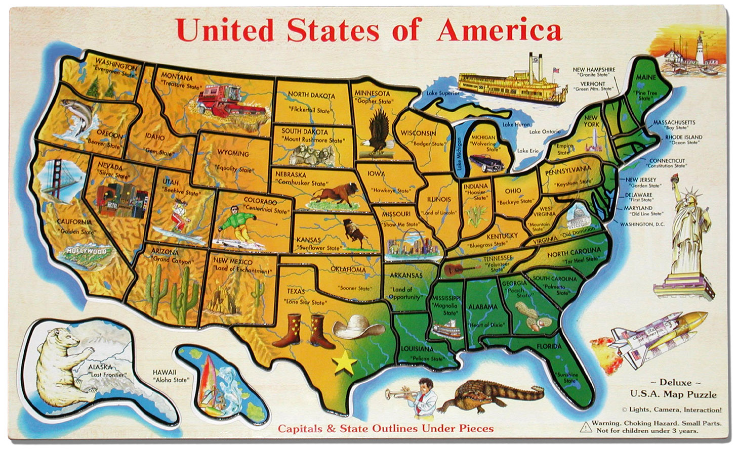 Maps Usa Map Puzzle