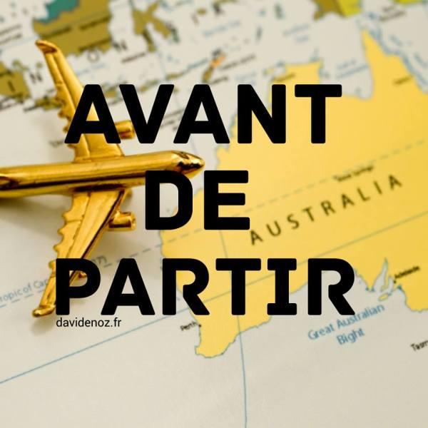 avant de partir en australie