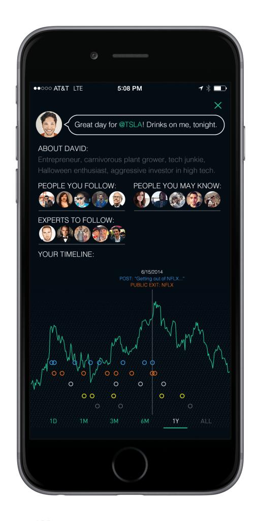 Social Trading David Profile iPhone