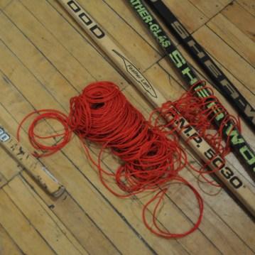Hockey Sticks Knitting David Frankovich Performance Art