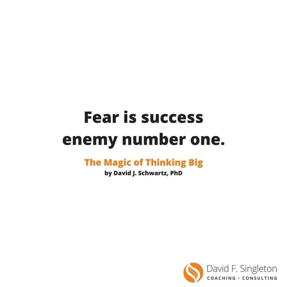 Dont let your fears keep you from being successful Whathellip