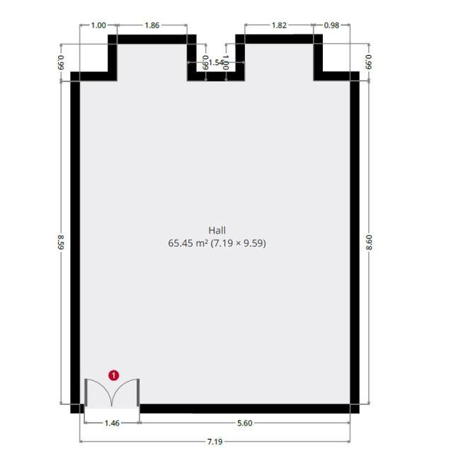 dance room for hire floor plan