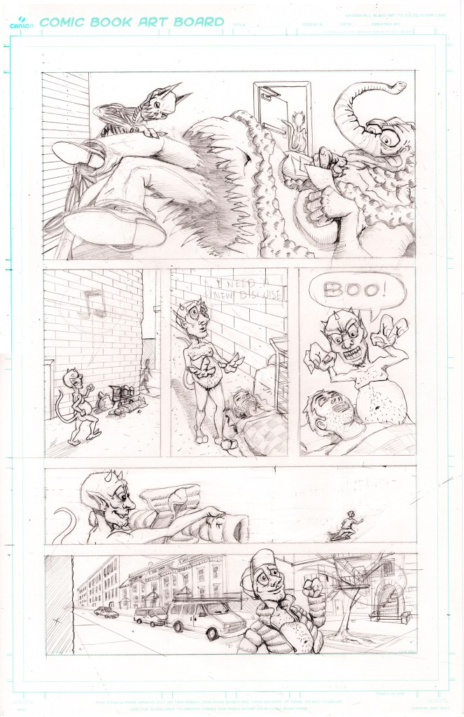 Grandpa's Pet Demon Page 8 Pencils Cleaned Up 150dpi