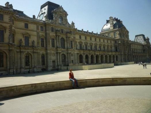 Outside the Louvre, Paris