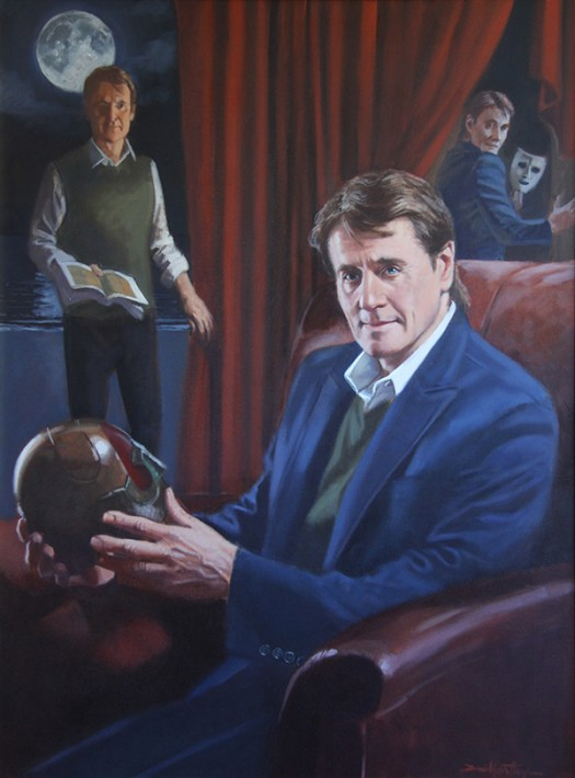 "Painting of ""Duncan Regehr"" by David Goatley: Oil on canvas, 40"" x 30"""