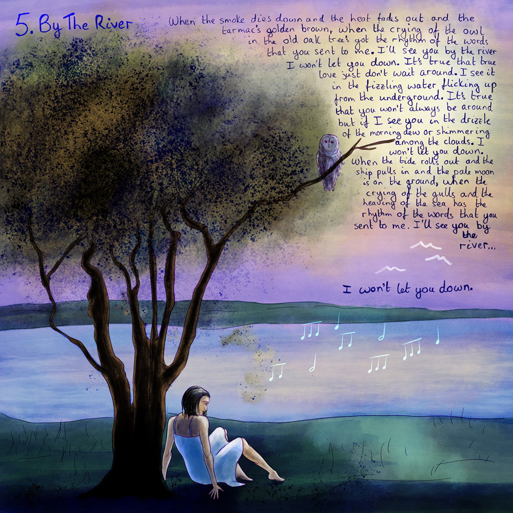 David Green By The River Artwork with lyrics