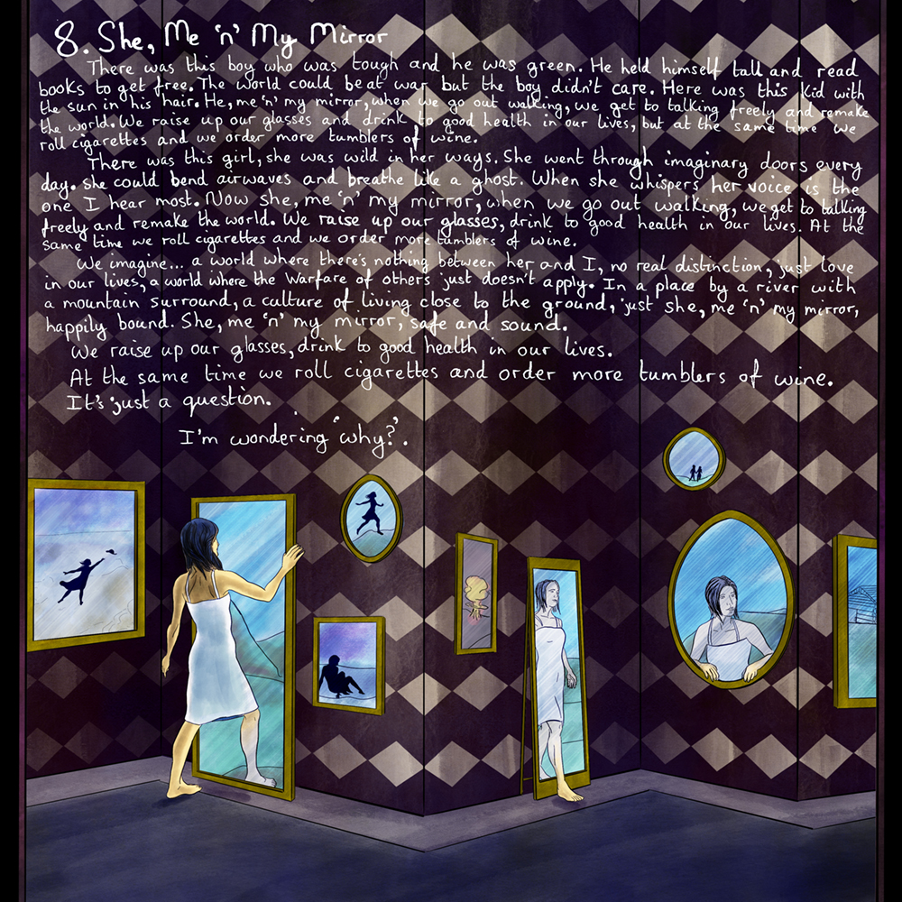 David Green She Me And My Mirror Artwork with Lyrics