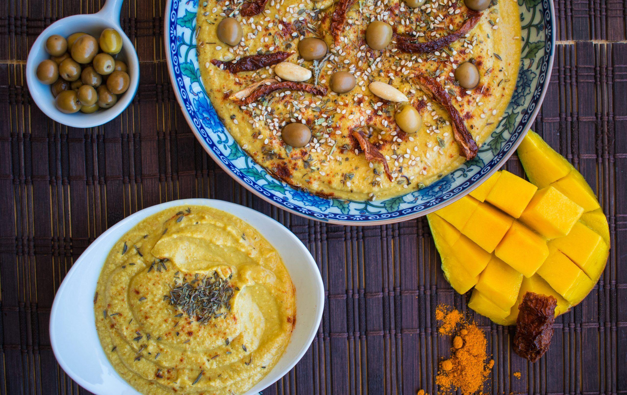 Hummus con Mango al Curry