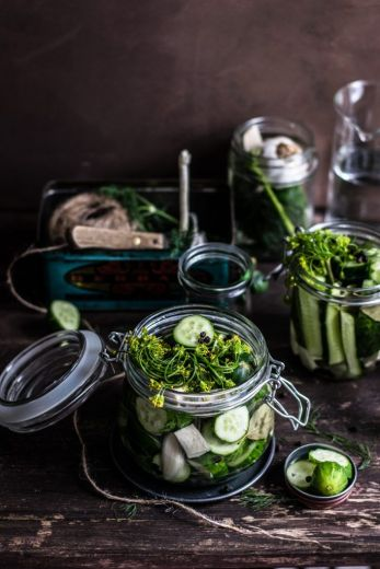 encurtidos vegetales, pepinillos para encurtir
