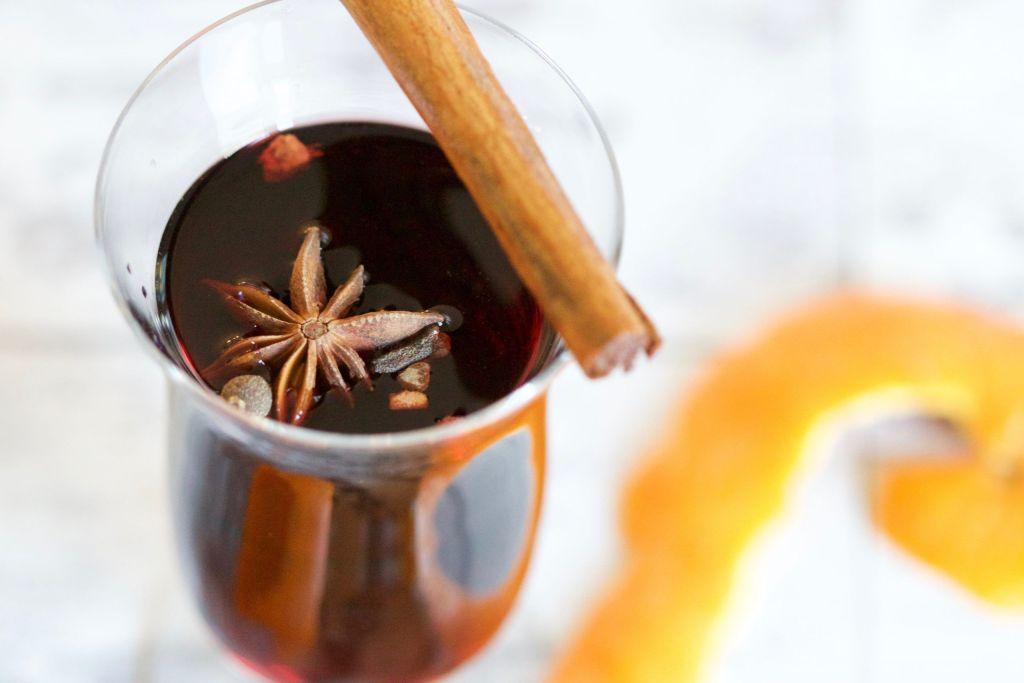 vino especiado con canela
