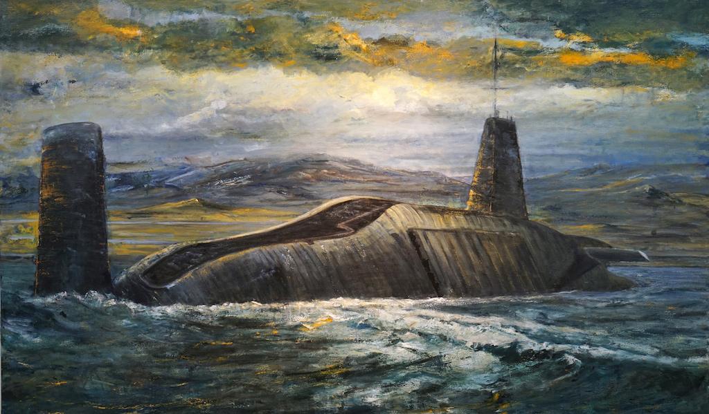 "Painting ""Leviathan"" by David Hall, 2014"