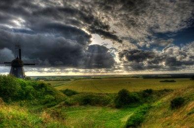 Old mill and fields, Northern Jutland © David Hamilton Melby high dynamic range