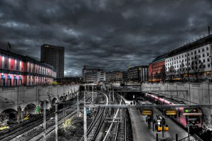 Vesterport station, Copenhagen © David Hamilton Melby high dynamic range