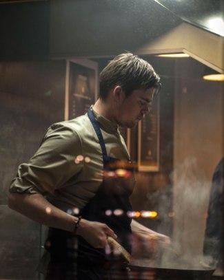 Chef in kitchen at Nordic Noodle, Copenhagen © David Hamilton Melby