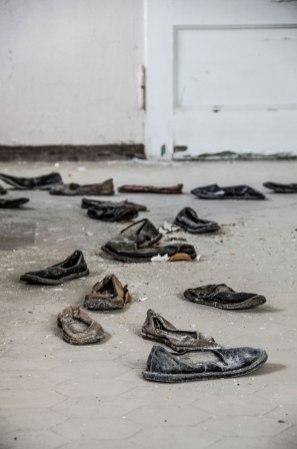 Abandoned shoes, Beelitz Heilstätten Hospital © David Hamilton Melby