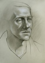 Portrait of Gregory, charcoal on paper, $95