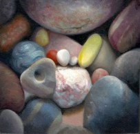 """The Interior World, 4""""x4"""" Oil on Panel, sold"""