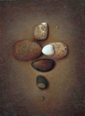 """In the Heart of Darkness We Find the Truth, acrylic and oil on panel, 32 """"x24"""", $3250 sold"""