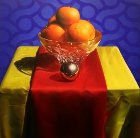 New Years Resolution, oil on panel, 24″x24″ $3500, Collection of Indiana State Museum