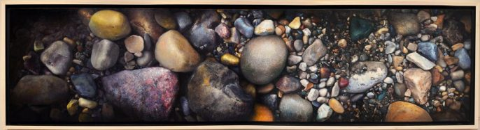 """Chaos is Inherent in all Compounded Things, 24""""x96"""", oil on panel $12,000"""