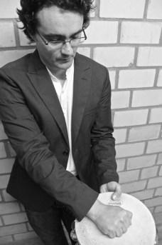 David Hernandez Deniz playing Tambourine