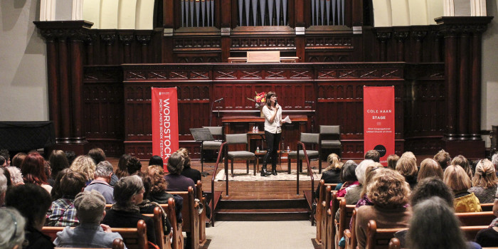 Amanda Bullock speaking at Wordstock 2015