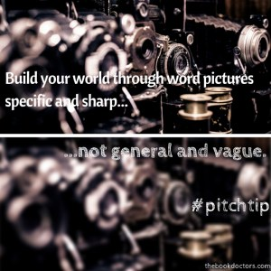 Pitch tip: Build your world through word pictures specific and sharp
