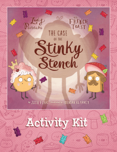 The Case of the Stinky Stench Activity Kit; similar to book cover, but with activity kit written on the bottom