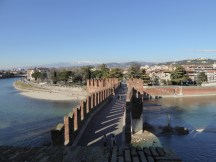 This bridge from the Castelvecchio was the only way out during times of plague.