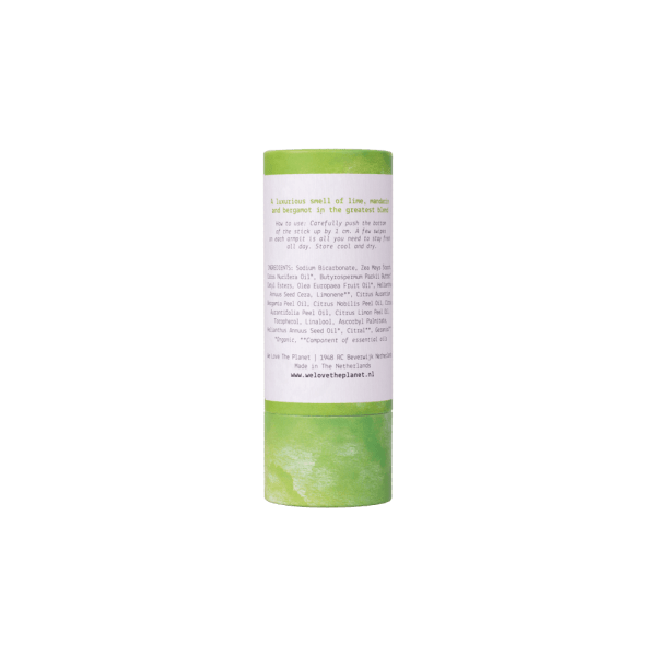 We Love The Planet Deodorant Stick Luscious Lime achterkant
