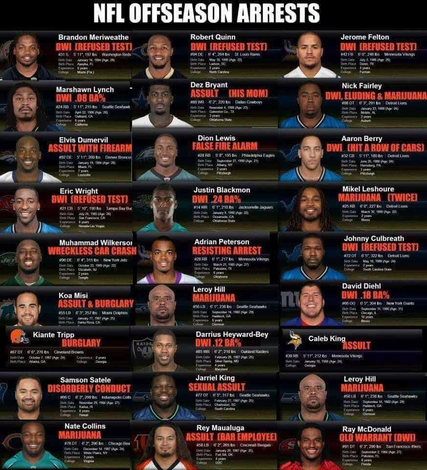 NFL ARRESTS 2017