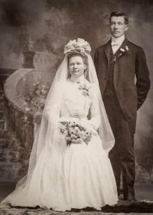 Unique photo de mariage dans son décor Sissy