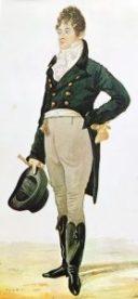 Caricature du Dandy par Dighton - 1905