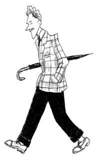 Caricature du zazou - année 40