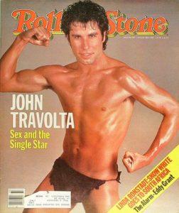 Rolling Stone couverture - John Travolta torse nu