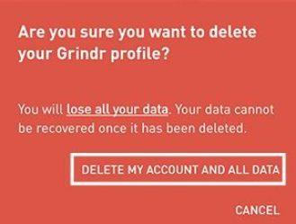 Êtes-vous sûr de vouloir supprimer votre profil Grindr