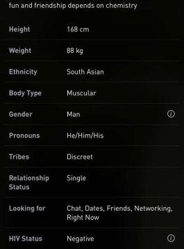 paramètres profil Grindr