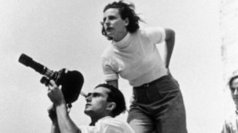 Leni Riefenstahl en action