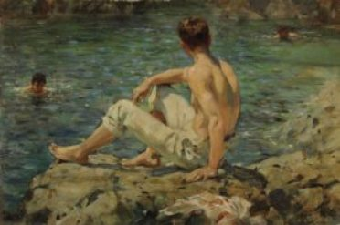 Green and Gold d'Henry Scott Tuke